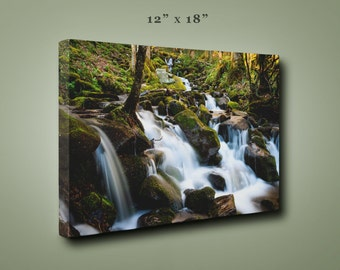 Cascades Waterfall Print, Smoky Mountains National Park, Tennessee Art, North Carolina Art, Landscape Photograph, Wall Decor, Canvas