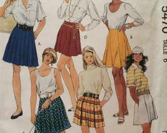 Cute! Misses' Skirts and Tap Shorts Pattern---McCalls 5470