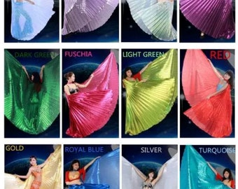 Isis Wings open back, Egyptian Belly Dance.( Isis wings + 2 sticks hardwood + bag ) free shipping to USA .