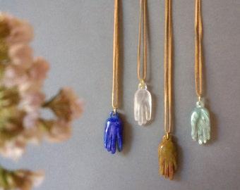 Healing Crystal Pendant,  for Chakra Balancing in Lapis, Tiger Eye , Rose Quartz and Labradorite