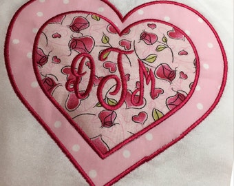 Valentine's Day Monogram Shirt, Girl's Valentine's Day Applique Shirt, Girl's Design, Valentine,  Monogram Shirt