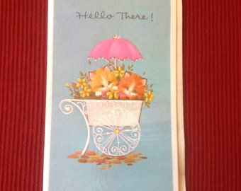 Vintage kittens card ( Unused )