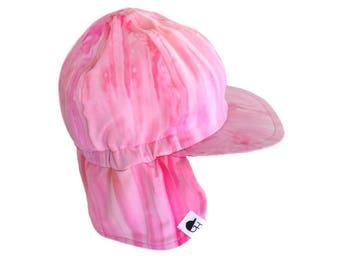 Sun & Swim Hat / Baby Sun Hat / Toddler Sun Hat / Kids Swim Hat / PINK TIE DYE