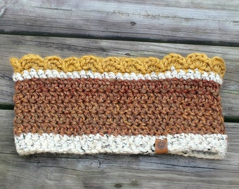 Sunflower Cowl // Crochet // Handmade // Free Shipping