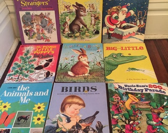 Vintage Big Golden Book Collection/Vintage Golden Book Lot/Vintage Children's Books