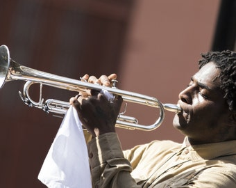 New Orleans trumpet player photographic print