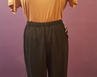 Anne Klein II Silk Jogger Pants