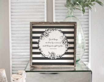 Great Things  // 13x13 Handmade Sign