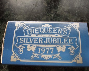 The Queen's Silver Jubilee souvenir matchbox from the Cornish Match Co.