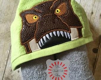 Dinosaur Hooded Towel, T-Rex Hooded Towel, Dino Hooded Towel, Hooded Towel, Kids Hooded Towel, Bath Towel, Pool Towel, Beach Towel, Gift
