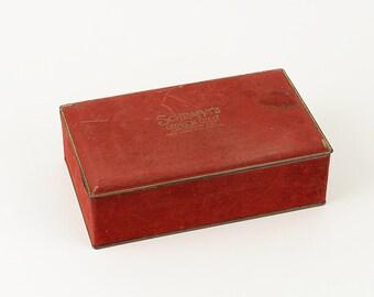 Vintage Schrafft's Crimson Chest Candy Tin Box.