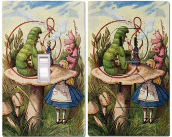 Alice and the Caterpillar Light Switch Cover