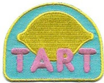 Tart Lemon Embroidered Patch / Iron On Applique, Cute, Retro, Kids, Infants