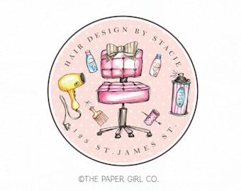 hair stylist logo hair salon logo hair dresser logo premade logo blow dryer logo shampoo logo hair spray logo stylist logo beauty logo