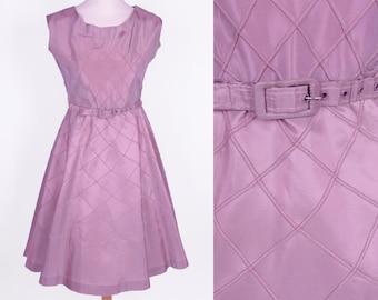 VTG Lilac Pink 1950s Tafetta Dress (XS/S) // Vintage Gécé Swingdress Daydress Fifties
