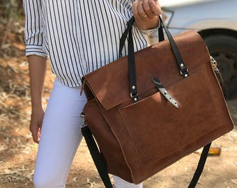 Sale!!! Leather messenger bag women leather crossbody bag Leather laptop bag women Leather bags women Messenger bag women Womens briefcase