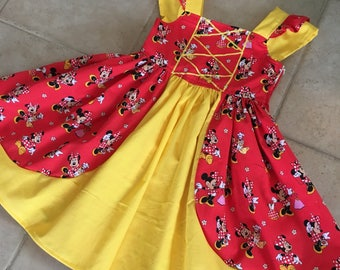 Minnie Mouse Shopping dress, Minnie Mouse princess dress