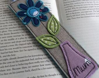 Flower Bookmark   Mum Bookmark   Personalised Bookmark   Handmade Bookmark   Unique Bookmark  