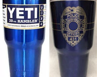 Thin Blue Line Tumbler Spartan Helmet Blessed Are The Peace