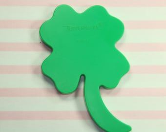 Collectable Tubberware Green 4 Leaf Clover St. Patrick's Day Cookie Cutter