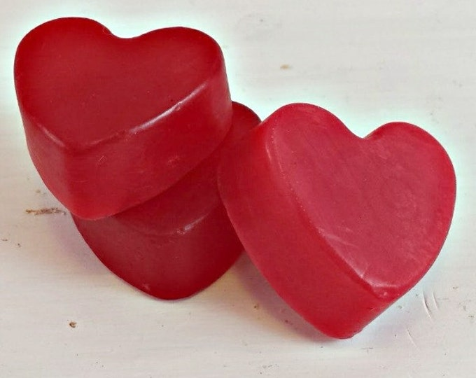 Apple Cinnamon Heart Soap Mini Soaps Party Soap Favors Wedding Soap Favors Soap Favors Baby Shower Soap Favors, Small Stocking Stuffers