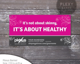 Pink Plexus Vinyl Banner [Printed & Shipped]