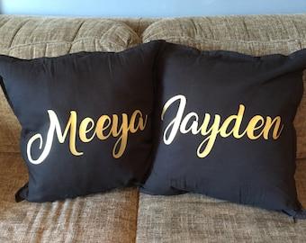 Custom Name Cushion Cover