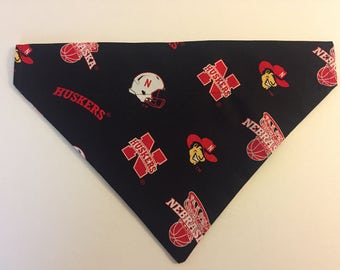 Dog bandana, University of Nebraska, Cornhuskers