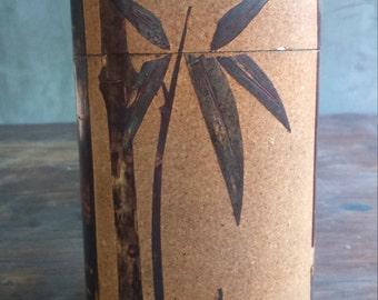 Japanese Cherry Bark Tea Tin Container Box
