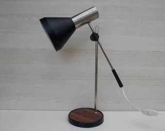 Office table lamp, Vintage Modernist Retro, desk lamp, vintage table lamp, retro lamp, blac,k lamp, table lamp, working lamp, home decor
