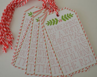 Christmas Wine Tags - Wine Bottle Gift Tags