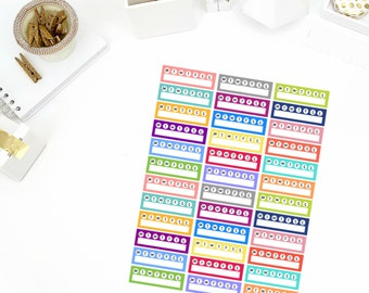 Weekly Habit Tracker Stickers! Perfect for your Erin Condren Life Planner, Filofax, Paper Plum, calendar and/or