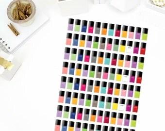 Nail Polish Stickers! Perfect for your Erin Condren Life Planner, calendar, Paper Plum, Filofax!