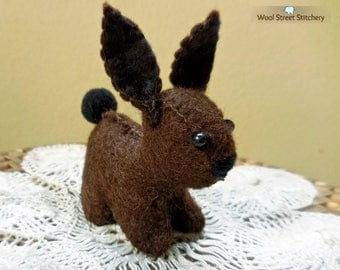 Stuffed bunny rabbit, handmade Easter bunny, Easter decoration, felt bunny rabbit, felt stuffed animal