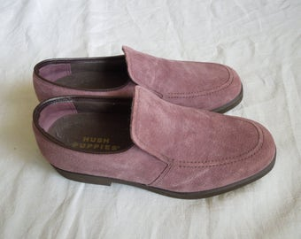 70s Dusty Rose Pink Hush Puppy Loafers Women's US 8
