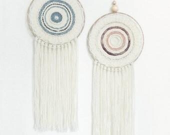 CUSTOM - Totem - contemporary weaving - circular weaving - weaving round - wall weaving - Tapestry weaving Fiber Art