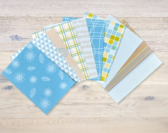 10 small sheets scrapbooking paper with pattern handmade