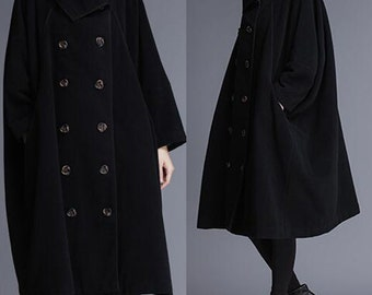 Double Breasted Women Wool Coat Cape Winter Wool Cape Wool Jackets Women Wool Coat Plus Size