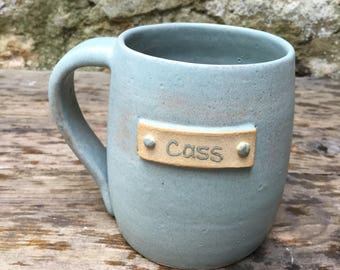 Personalised Hand thrown stoneware mug