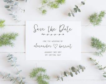 Modern & Minimal Save the Date - Printable Design