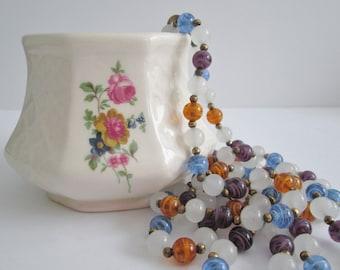 Vintage Long Glass Necklace