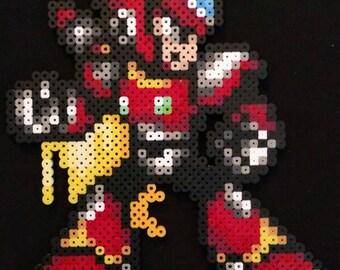 Megaman x zero perler bead pixel art sprite