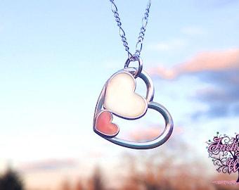 Three Hearts Breast Milk Pendant from Indigo Willow-- Breast Milk Jewelry