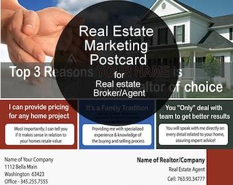 Custom Real estate postcard design, Real estate postcard, Real estate marketing, Realtor postcard, real estate agent postcard, real estate