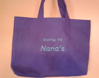 Going To Nana's tote bag