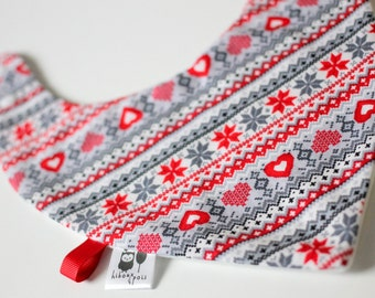 only ONE bandana bib / bandana bib * CHRISTMAS RED *.