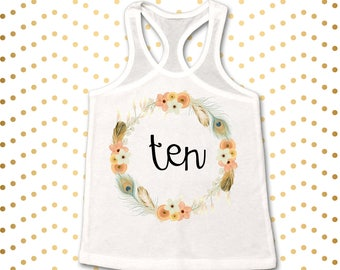 Ten Shirt, Ten tank top, 10th birthday tank top, Turning ten shirt, 10 year old birthday shirt, 10th Birthday tank, 10th Birthday