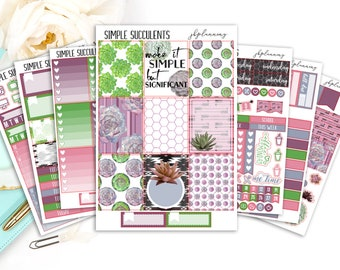 Simple Succulents | Spring/Summer Planner Sticker Deluxe Kit