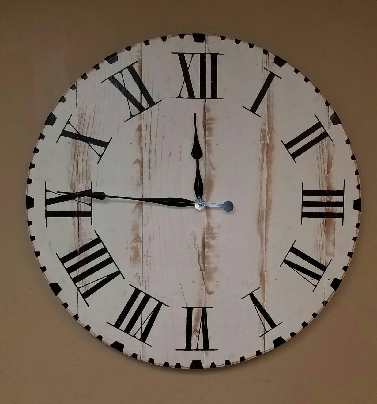 30in Maggie farmhouse clock fixer upper clock