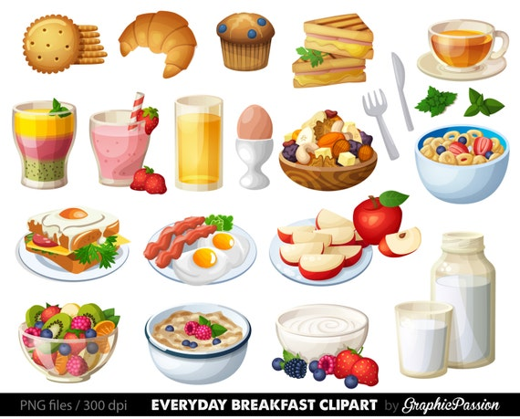 Food Clipart Breakfast Cake Clip art Sweet Treat Bakery clip